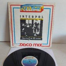 Discos de vinilo: INTERPOL / DANCING ON THE MOON / 33 R.P.M. -FULLTIME-1983 / MBC. ***/***. Lote 268836669
