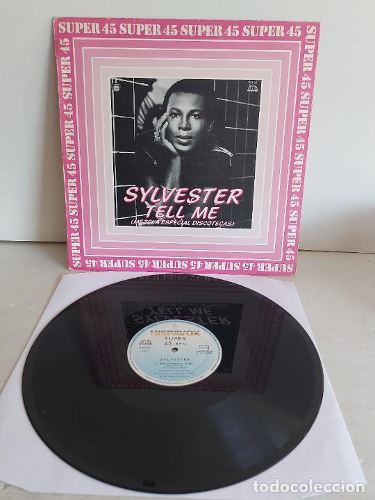 SYLVESTER / TELL ME (REMIX-ESPECIAL DISCOTECAS) MAXI SG-HISPAVOX-1982 / MBC. ***/*** (Música - Discos de Vinilo - Maxi Singles - Disco y Dance)