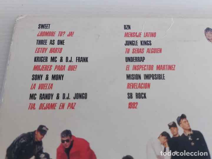 Discos de vinilo: RAP DE AQUÍ / VARIOS ARTISTAS / LP - ARIOLA-1990 / MBC. ***/*** LETRAS. - Foto 3 - 268839724