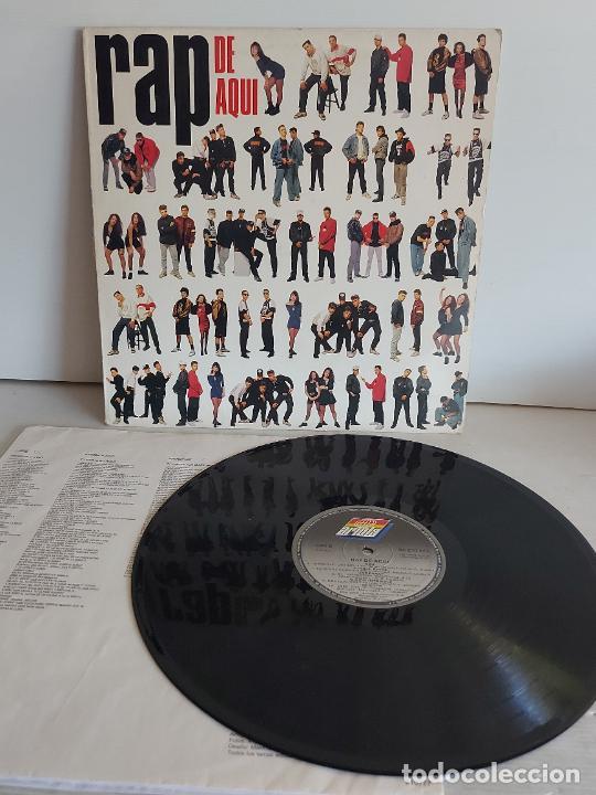 RAP DE AQUÍ / VARIOS ARTISTAS / LP - ARIOLA-1990 / MBC. ***/*** LETRAS. (Música - Discos - LP Vinilo - Rap / Hip Hop)