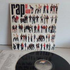 Discos de vinilo: RAP DE AQUÍ / VARIOS ARTISTAS / LP - ARIOLA-1990 / MBC. ***/*** LETRAS.. Lote 268839724