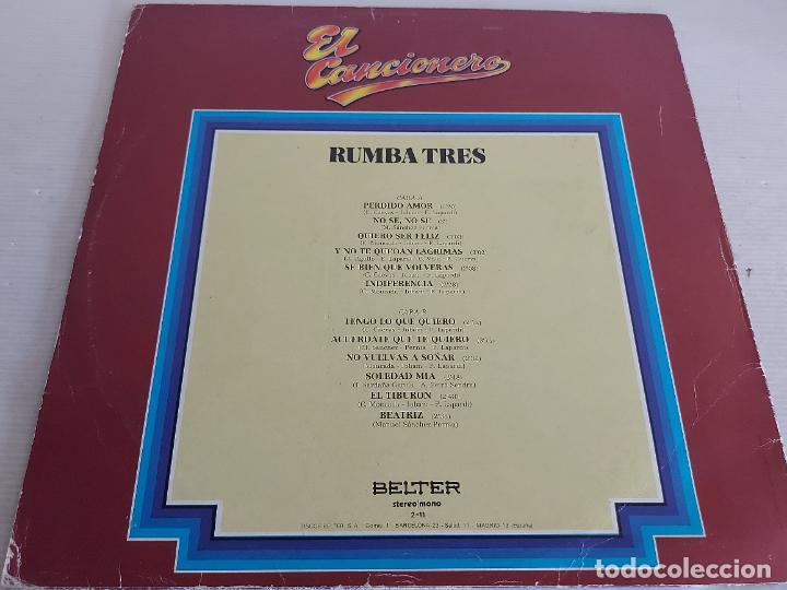 Discos de vinilo: RUMBA TRES / EL CANCIONERO / 11 / LP - BELTER-1979 / MBC. ***/*** - Foto 2 - 268840219