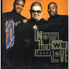 Discos de vinilo: HEAVY D. & THE BOYZ - NOW THAT WE FOUND LOVE - MAXI SINGLE 1991 - ED. UK. Lote 268845284