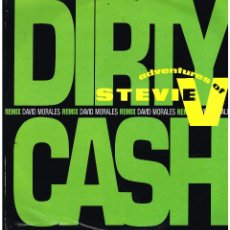 Discos de vinilo: ADVENTURES OF STEVIE V - DIRTY CASH (MONEY TALKS) - MAXI SINGLE 1991 - ED. EUROPA. Lote 268845849