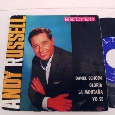 Discos de vinilo: ANDY RUSSELL-EP DANKE SCHOEN +3-PORT.REGULAR. Lote 268850369