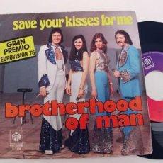 Discos de vinil: BROTHERHOOD OF MAN-SINGLE EUROVISION 76. Lote 268851194