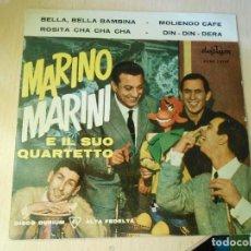 Discos de vinilo: MARINO MARINI E IL SUO QUARTETTO, EP, BELLA, BELLA BAMBINA + 3, AÑO 1961. Lote 268870254