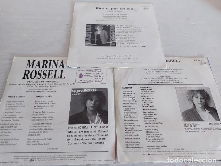 Discos de vinilo: MARINA ROSSELL / 3 SINGLES PROMOCIONALES / PROCEDENTES DE EMISORA / MUY BUENA CALIDAD. - Foto 5 - 268871669