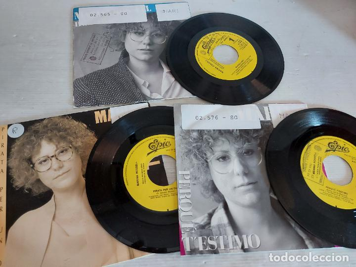 MARINA ROSSELL / 3 SINGLES PROMOCIONALES / PROCEDENTES DE EMISORA / MUY BUENA CALIDAD. (Música - Discos - Singles Vinilo - Cantautores Españoles)
