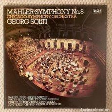 Discos de vinilo: MAHLER - SINFONÍA NO 8 . GEORGE SOLTI - CAJA CON 2 LPS. Lote 268873209