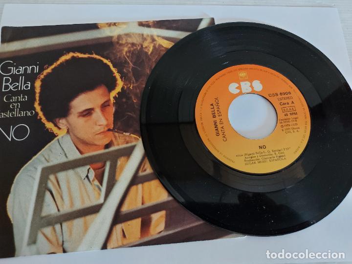 GIANNI BELLA CANTA EN CASTELLANO / NO-ESTA / SINGLE-CBS-1979 / MBC. ***/*** (Música - Discos - Singles Vinilo - Canción Francesa e Italiana)