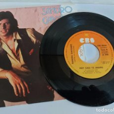 Discos de vinilo: SANDRO GIACOBBE / ME VAS PORQUE SI / SINGLE-CBS-1980 / MBC. ***/***CARTA DE PRESENTACIÓN.. Lote 268877024