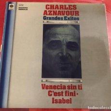 Discos de vinilo: CHARLES AZNAVOUR - GRANDES ÉXITOS LP VINILO. Lote 268893419