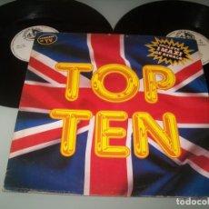 Discos de vinilo: TOP TEN - 1 LP + 1 MAXI - ITALO - DISCO DE BLANCO Y NEGRO MUSIC - EDICION 1989 - ESPAÑOL. Lote 268893619