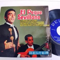 Discos de vinilo: EL PEQUE SEVILLANO-EP EL CANTO DEL GRILLO +3. Lote 268903664