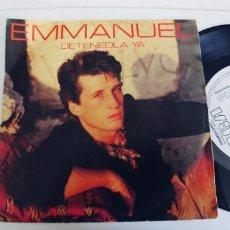 Discos de vinilo: EMMANUEL-SINGLE DETENEDLA YA. Lote 268903804