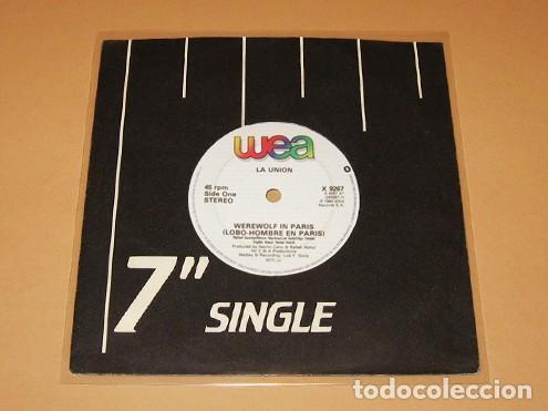LA UNION - WEREWOLF A PARIS - LOBO HOMBRE EN PARIS (VERSION EN INGLES) - SINGLE - 1984 ¡MUY BUSCADO! (Música - Discos - Singles Vinilo - Grupos Españoles de los 70 y 80)