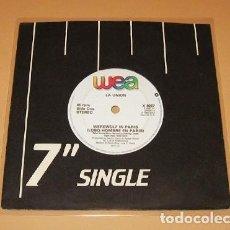 Discos de vinilo: LA UNION - WEREWOLF A PARIS - LOBO HOMBRE EN PARIS (VERSION EN INGLES) - SINGLE - 1984 ¡MUY BUSCADO!. Lote 231906420