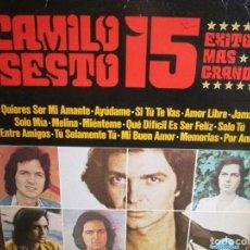 Discos de vinilo: LP DE CALIFORNIA DE CAMILO SESTO 15 EXITOS MAS GRANDES , MELINA , AMOR LIBRE , SOLO TU , JAMÀS ,. Lote 268913814