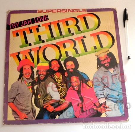 THIRD WORLD TRY - JAH LOVE SUPERSINGLE - DISCO DE VINILO - GRUPO DE MÚSICA REGGAE JAMAICANO AÑOS 80 (Música - Discos de Vinilo - Maxi Singles - Reggae - Ska)