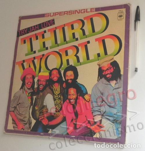 Discos de vinilo: THIRD WORLD TRY - JAH LOVE SUPERSINGLE - DISCO DE VINILO - GRUPO DE MÚSICA REGGAE JAMAICANO AÑOS 80 - Foto 2 - 268916874