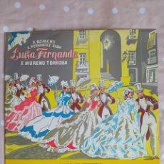 Discos de vinilo: LUISA FERNANDA, F. MORENO TORROBA, ALHAMBRA MCC 30022, ATAULFO ARGENTA. Lote 268919044