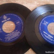 Discos de vinilo: LOTE 2 SINGLE MIGUEL RIOS SOLO LOS DISCOS. Lote 268924214