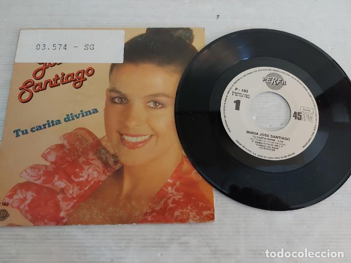 Discos de vinilo: MARÍA JOSÉ SANTIAGO / 2 SINGLES PROMOCIONALES / PROCEDENTES DE EMISORA / MUY BUENA CALIDAD. *** - Foto 2 - 268930669