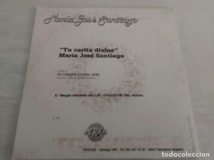 Discos de vinilo: MARÍA JOSÉ SANTIAGO / 2 SINGLES PROMOCIONALES / PROCEDENTES DE EMISORA / MUY BUENA CALIDAD. *** - Foto 3 - 268930669