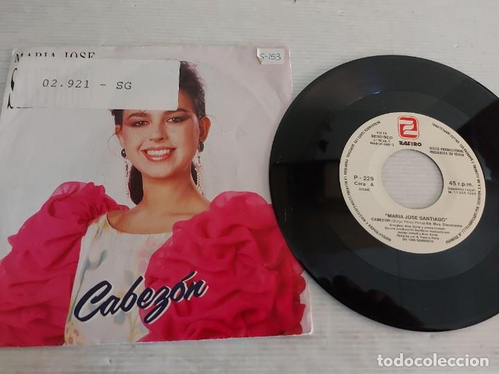 Discos de vinilo: MARÍA JOSÉ SANTIAGO / 2 SINGLES PROMOCIONALES / PROCEDENTES DE EMISORA / MUY BUENA CALIDAD. *** - Foto 4 - 268930669