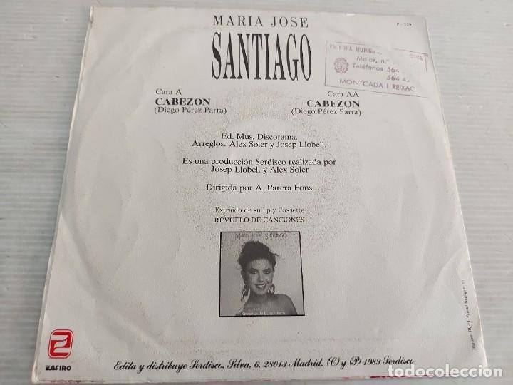 Discos de vinilo: MARÍA JOSÉ SANTIAGO / 2 SINGLES PROMOCIONALES / PROCEDENTES DE EMISORA / MUY BUENA CALIDAD. *** - Foto 5 - 268930669