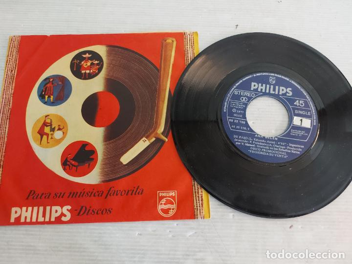 ANA BELÉN / DE PASO / SINGLE PROMO-PHILIPS-1977 / FUNDA PHILIPS / MBC. ***/*** (Música - Discos - Singles Vinilo - Solistas Españoles de los 70 a la actualidad)
