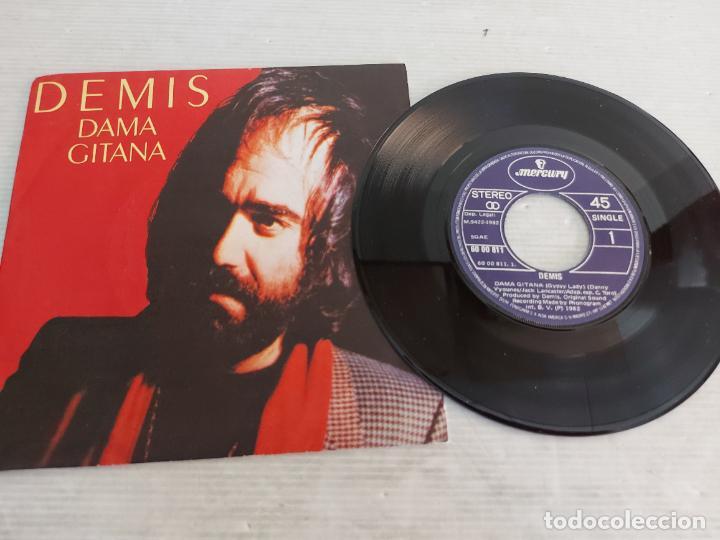 DEMIS ROUSSOS / DAMA GITANA / SINGLE-MERCURY-1982 / MBC. ***/*** (Música - Discos - Singles Vinilo - Canción Francesa e Italiana)