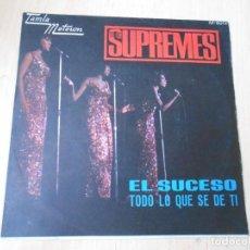 Discos de vinilo: SUPREMES, THE, SG, EL SUCESO (THE HAPPENING) + 1, AÑO 1967. Lote 268933394