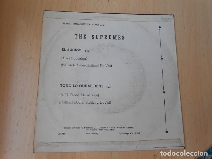 Discos de vinilo: SUPREMES, THE, SG, EL SUCESO (THE HAPPENING) + 1, AÑO 1967 - Foto 2 - 268933394