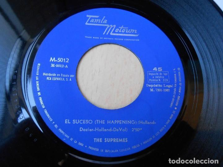Discos de vinilo: SUPREMES, THE, SG, EL SUCESO (THE HAPPENING) + 1, AÑO 1967 - Foto 3 - 268933394