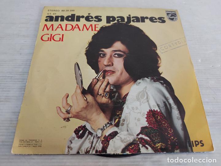 Discos de vinilo: ANDRÉS PAJARES / TODO EL TIEMPO DEL MUNDO / SINGLE-PHILIPS-1975 / DE LUJO. ****/**** - Foto 2 - 268936544