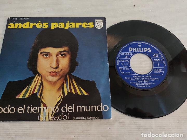 ANDRÉS PAJARES / TODO EL TIEMPO DEL MUNDO / SINGLE-PHILIPS-1975 / DE LUJO. ****/**** (Música - Discos - Singles Vinilo - Solistas Españoles de los 70 a la actualidad)