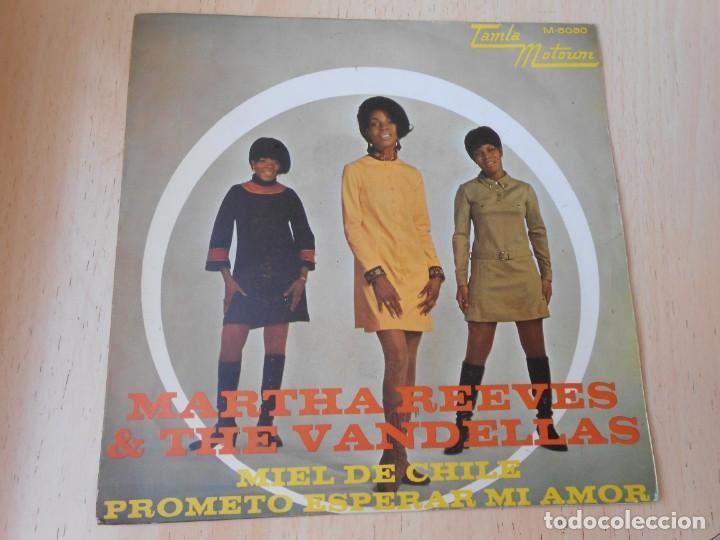 MARTHA REEVES & THE VANDELLAS, SG, MIEL DE CHILE + 1, AÑO 1968 (Música - Discos - Singles Vinilo - Funk, Soul y Black Music)
