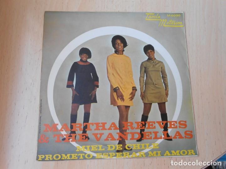 Discos de vinilo: MARTHA REEVES & THE VANDELLAS, SG, MIEL DE CHILE + 1, AÑO 1968 - Foto 2 - 268941674