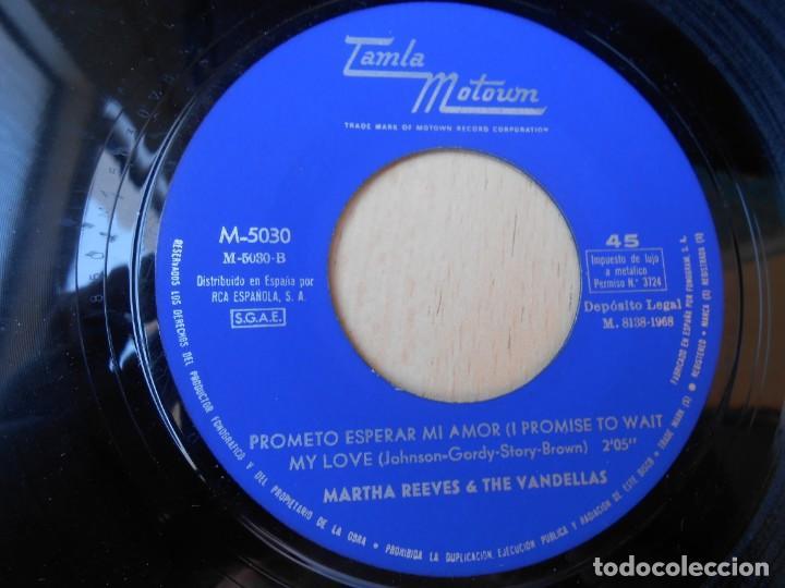 Discos de vinilo: MARTHA REEVES & THE VANDELLAS, SG, MIEL DE CHILE + 1, AÑO 1968 - Foto 4 - 268941674