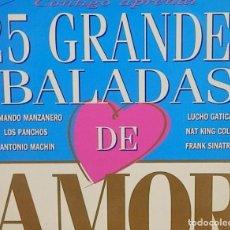 Discos de vinilo: 25 GRANDES BALADAS DE AMOR * 2LP * 1993 * RARE. Lote 268943719