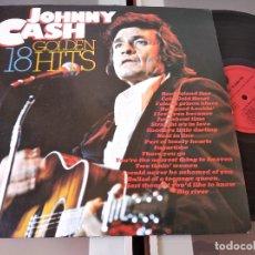 Discos de vinilo: JOHNNY CASH – 18 GOLDEN HITS EDIC NETHERLANDS. Lote 268944974