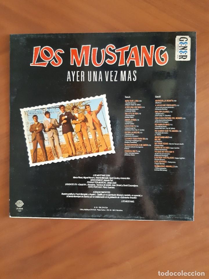 Discos de vinilo: LOS MUSTANG - AYER UNA VEZ MAS - Foto 2 - 268958054