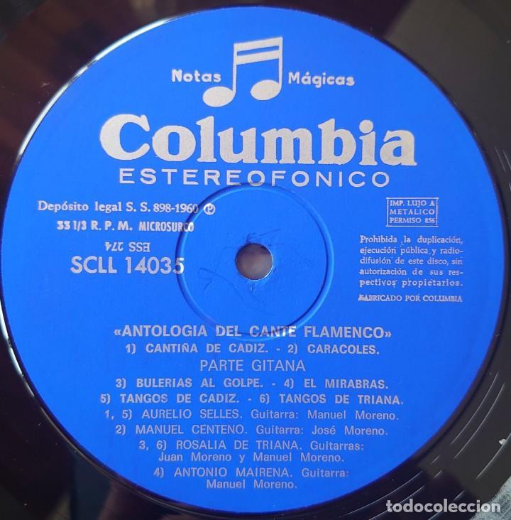 Discos de vinilo: Antología del cante flamenco y cante gitano caja con 3 Lps sello Columbia editado en España año 1960 - Foto 2 - 268960429
