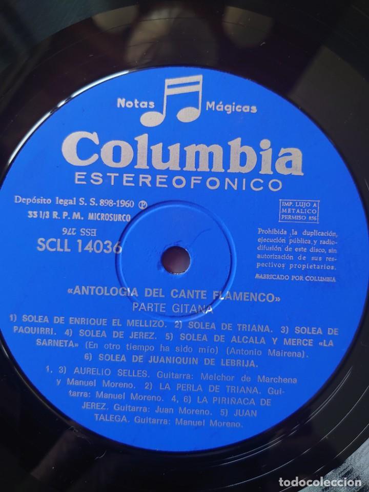Discos de vinilo: Antología del cante flamenco y cante gitano caja con 3 Lps sello Columbia editado en España año 1960 - Foto 4 - 268960429