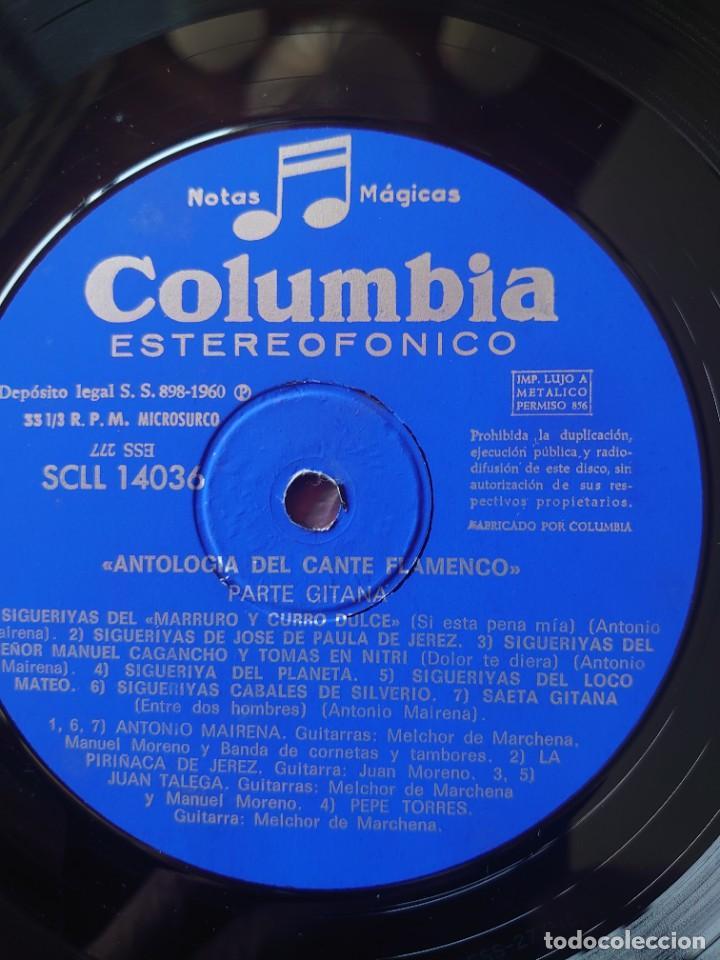 Discos de vinilo: Antología del cante flamenco y cante gitano caja con 3 Lps sello Columbia editado en España año 1960 - Foto 5 - 268960429