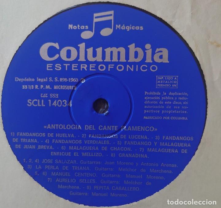 Discos de vinilo: Antología del cante flamenco y cante gitano caja con 3 Lps sello Columbia editado en España año 1960 - Foto 6 - 268960429