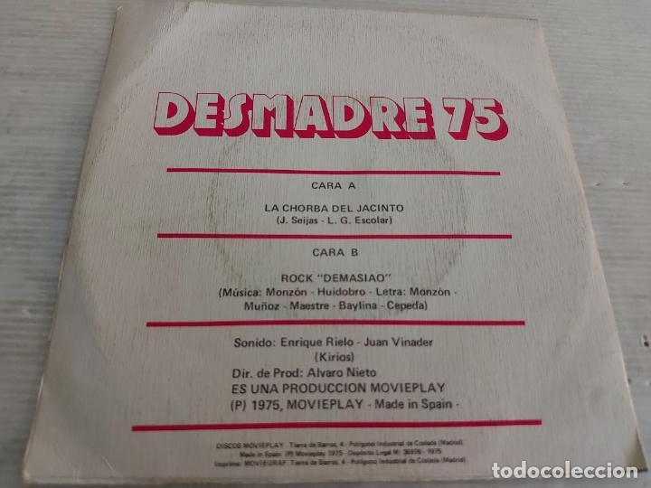 Discos de vinilo: DESMADRE 75 / LA CHORBA DEL JACINTO / SINGLE - MOVIE PLAY-1975 / MBC. ***/*** - Foto 2 - 268964299