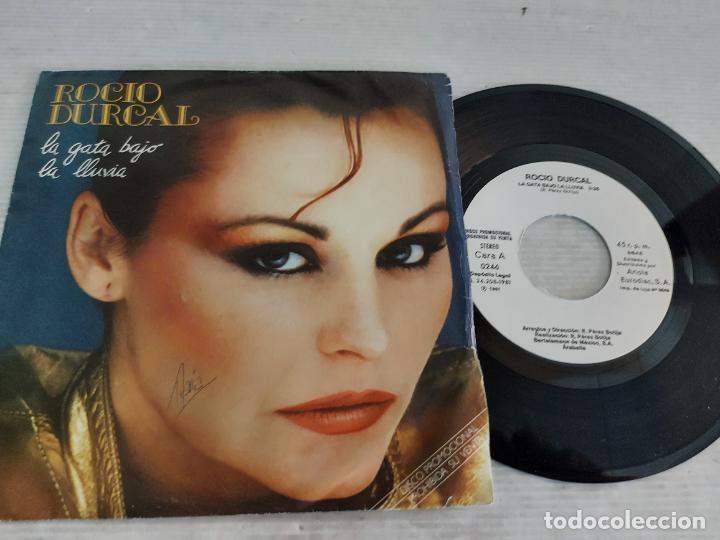 ROCIO DURCAL / LA GATA BAJO LA LLUVIA / SINGLE PROMO - ARIOLA-1981 / MBC. ***/*** (Música - Discos - Singles Vinilo - Solistas Españoles de los 70 a la actualidad)